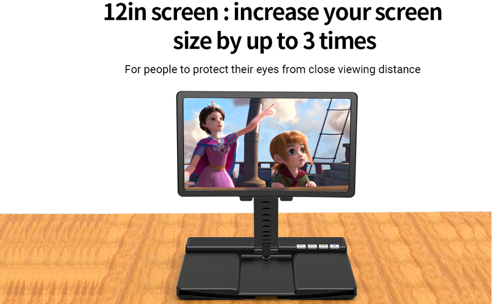 12-inch curved screen, enjoy the stereo vision, watching movies can feel more immersive