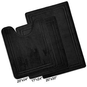 3 pieces bath mat