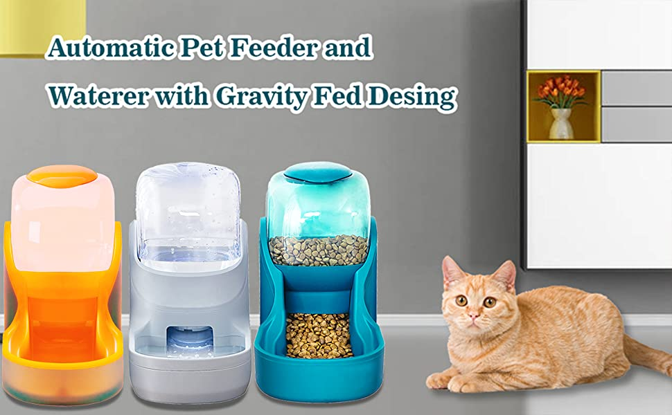 Pets feeder and waterer