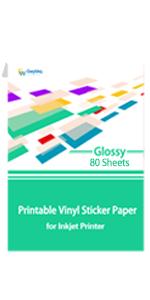 Glossy Printable Vinyl Sticker Paper