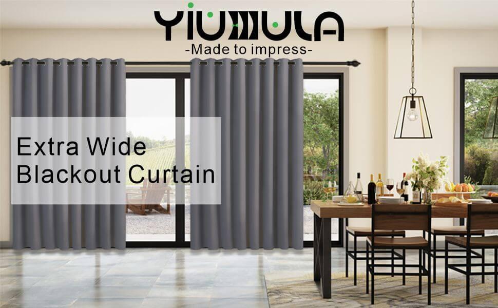 YIUMULA-extra wide blackout curtain-grey