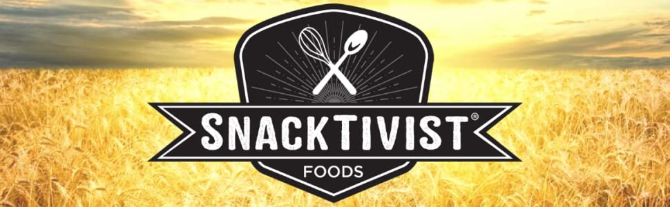 Snacktivist Foods Logo with Sunset