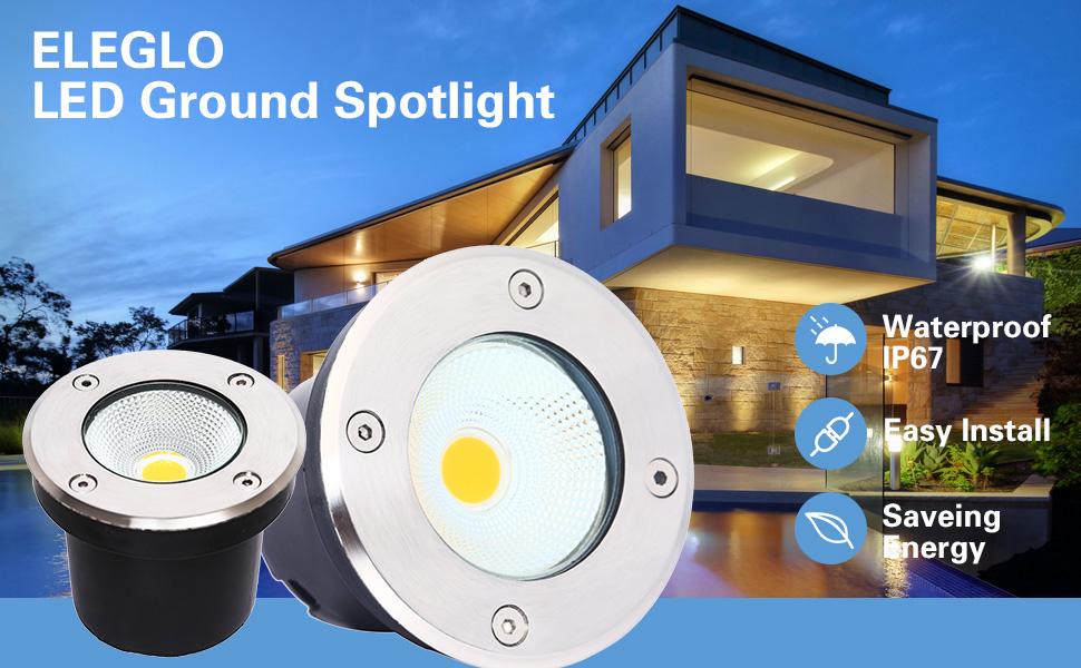 outdoor in ground light landscape lighting well light waterproof Spotlight deck lighting spot light