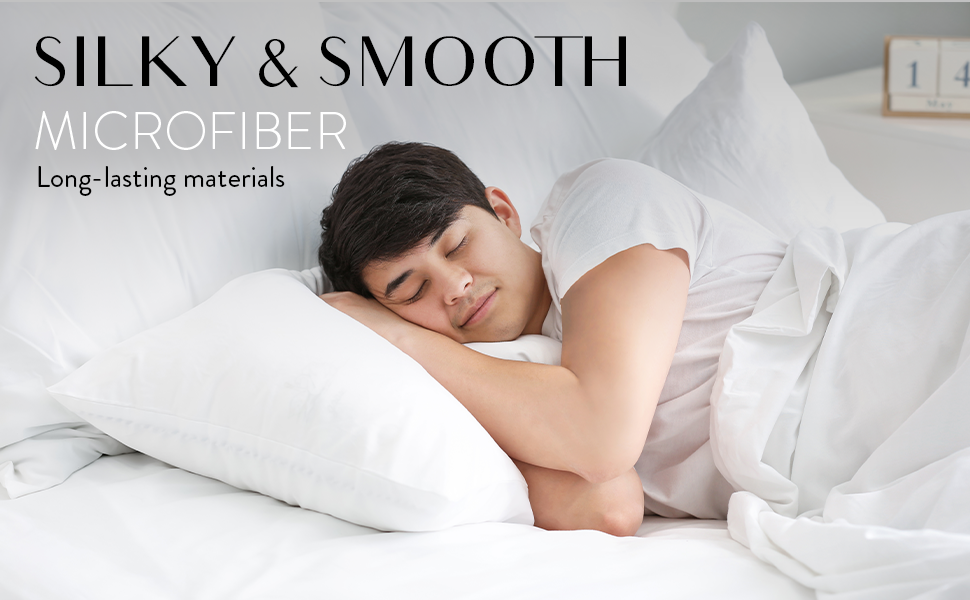 silky & smooth microfiber. Long-lasting materials
