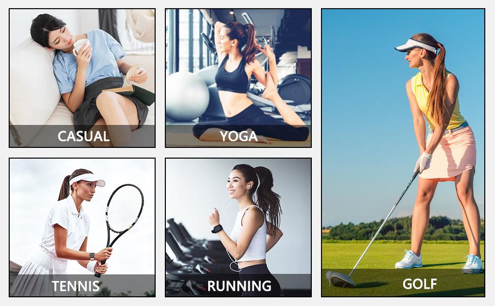 Fulbelle Womens Casual Yoga Golf Tennis Running