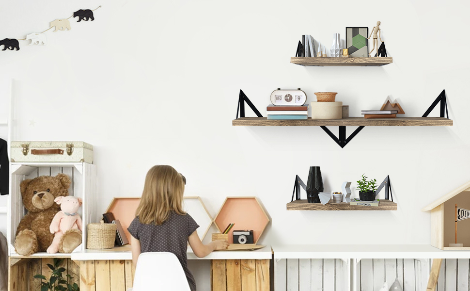 Klvied Floating Shelves Wall Mounted Set of 4