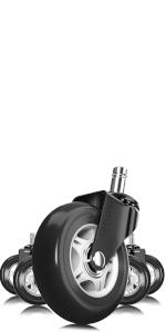 Black amp; Gray Office Chair Wheels