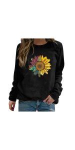 Sunflower Print Sweatshirt