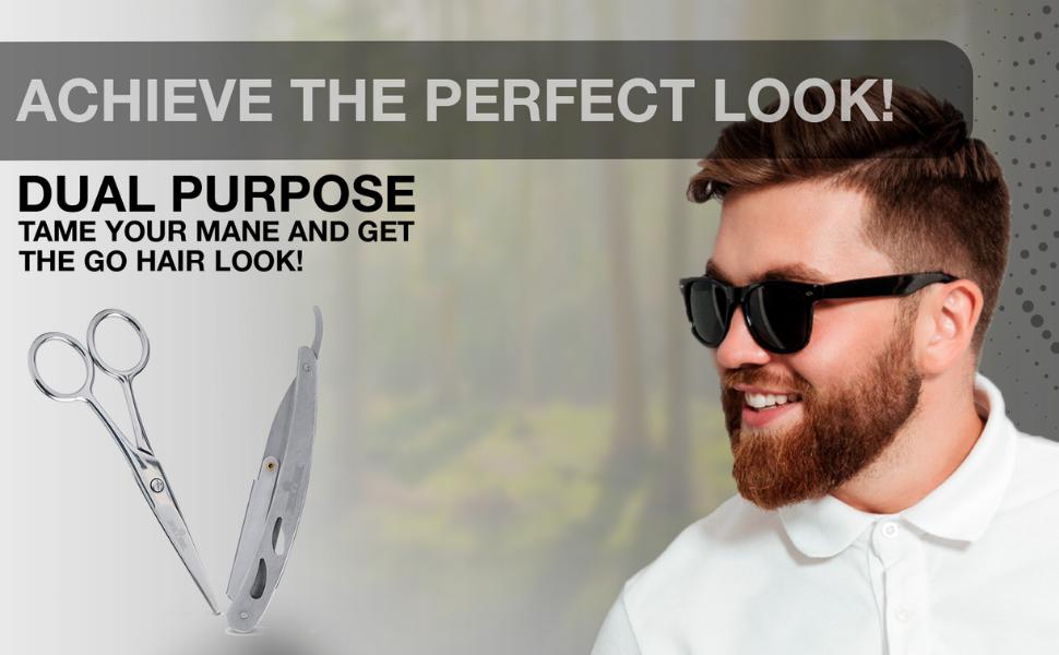 Mustache scissor, Beard Razor