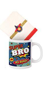 rakhi for brother with gift set coffee mug