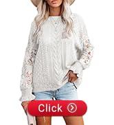 womens lace crochet jumper