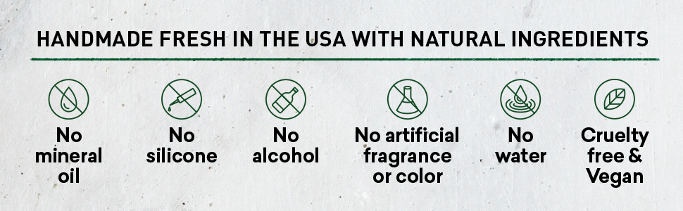 Handmade | Made in USA | Cruelty free | Vegan | Natural Ingredients