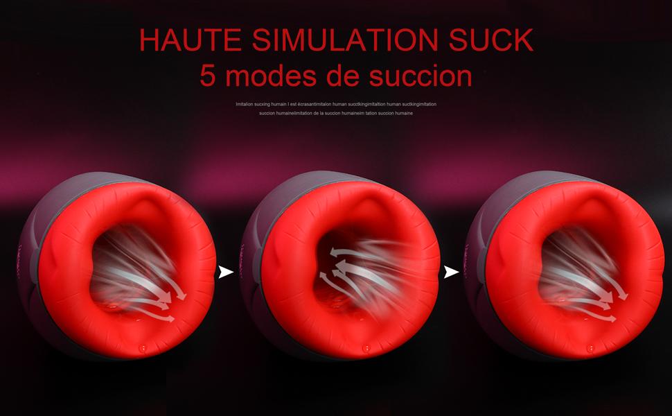 HAUTE SIMULATION SUCK 5 modes de succion