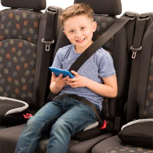 Child Sitting on a BubbleBum Inflatable Booster Car Seat