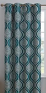 Montero Collection Grommet Window Curtain Teal