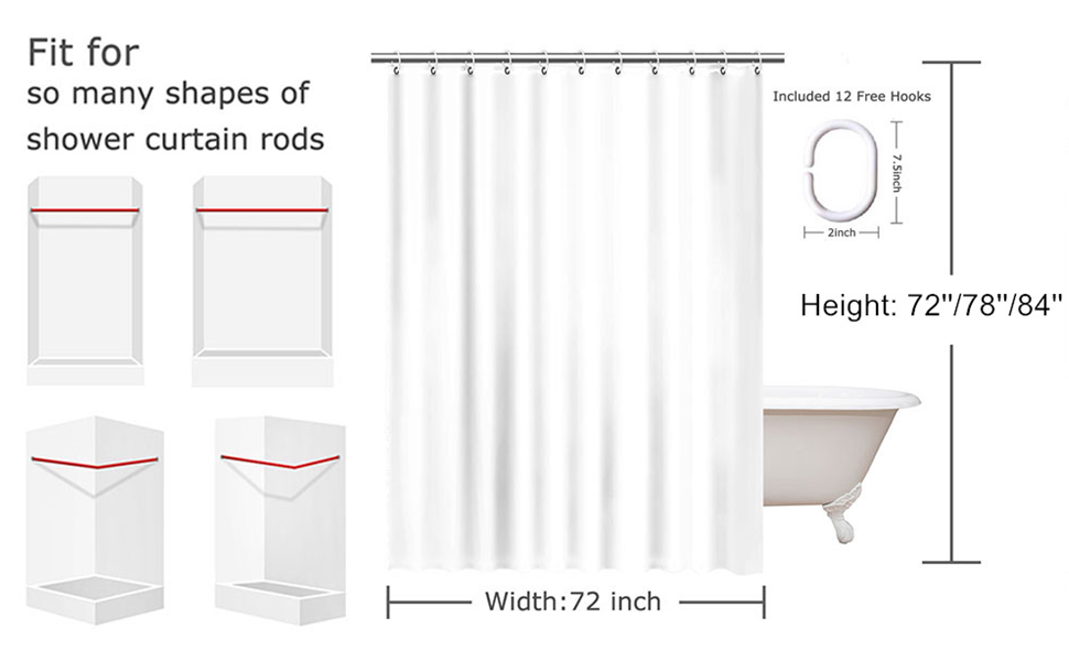 shower curtain size