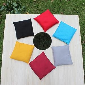 6 colors cornhole bags