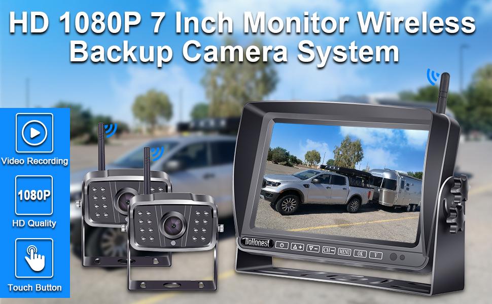 7inch RV wireless backup camera system