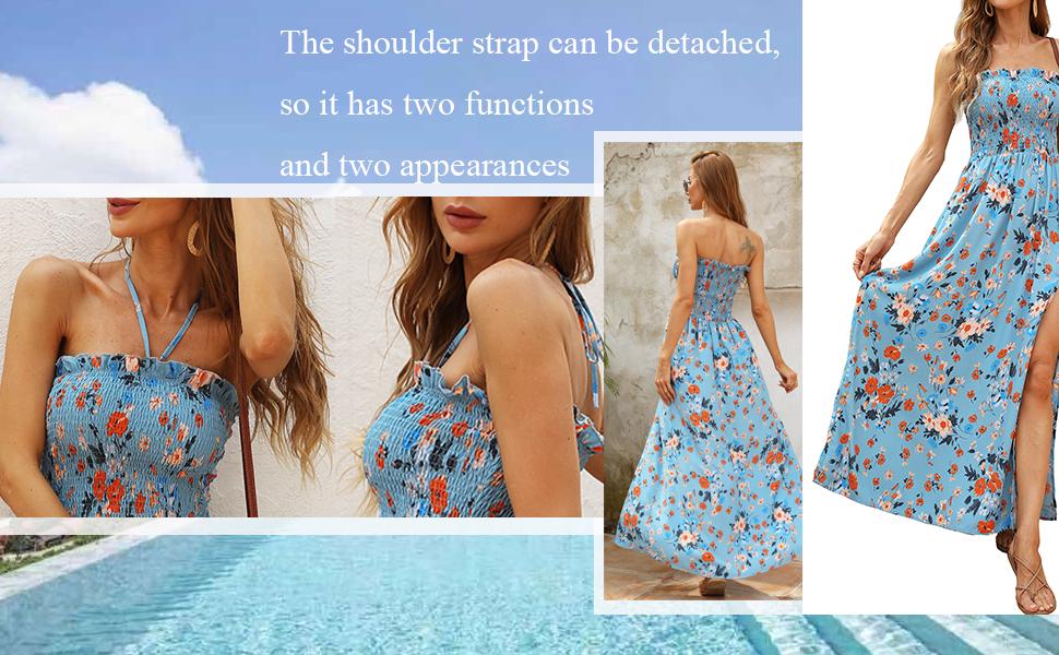 summer maxi boho beach dress