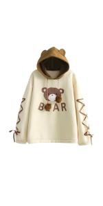 Cute Bear Hoodies Casual Sweater