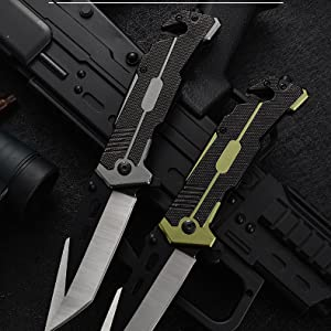 pocket knife with clip green