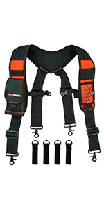 Tool Belt Suspenders with magnetic