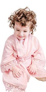 B08PYWR7K2-Kids Satin Robe with Lace Trim
