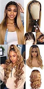 honey blonde ombre blonde wigs