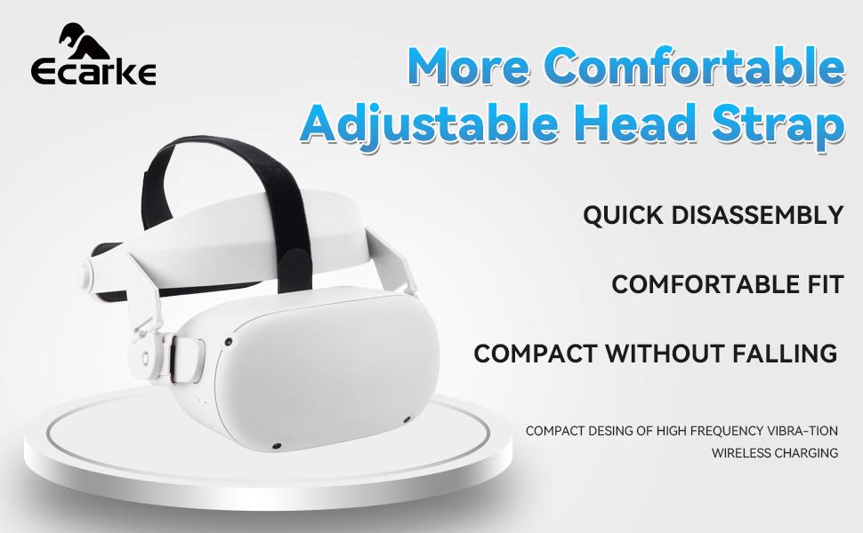 Oculus Quest 2 Head Strap Virtual Reality Glasses Adjustable Headband VR