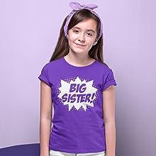 Happy Family Clothing Superhero Big Sister T-Shirt