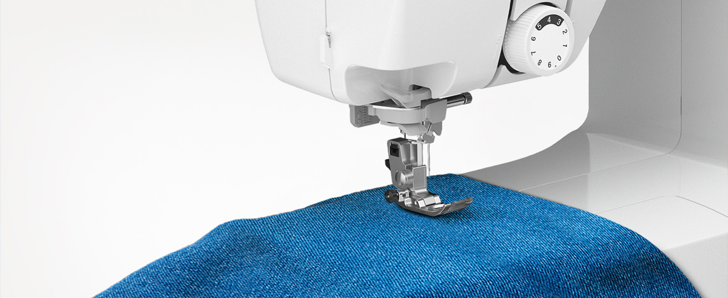 Sewing machine free arm with pant leg for hemming