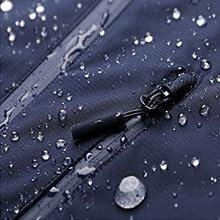 Water-resistant zipper