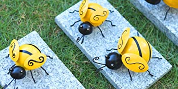 Bees on the paving stone