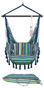 blue green white chair