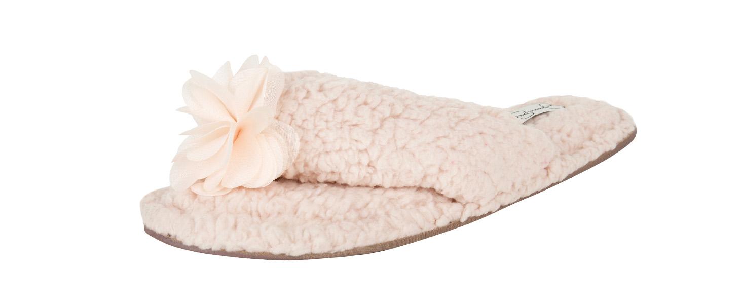 jessica simpson open toe slipper sandal marshmallow