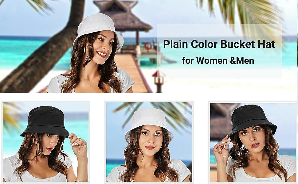 umeepar plain color bucket hat for women men