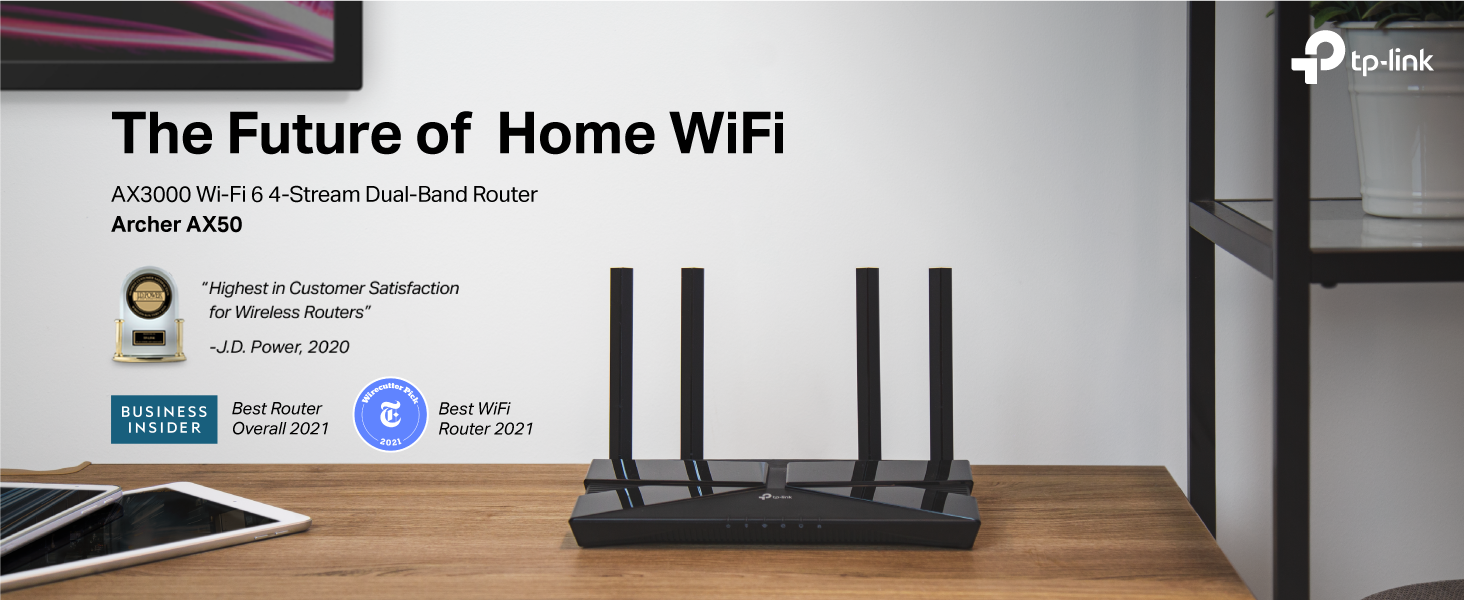WiFi 6 Dual Band Router - TP-Link AX3000 Archer AX50