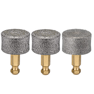 3 replaceable grinding stones for nails of different hardness