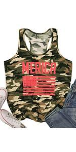 MERICA Camouflage Tank for Women