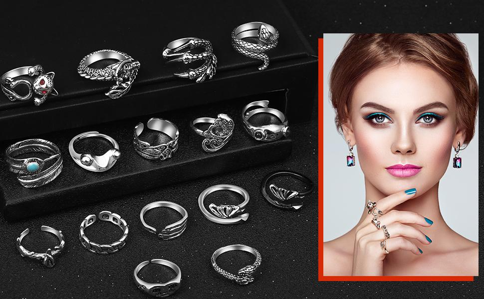 Novelty rings for your everyday wear, unique and special for you.
