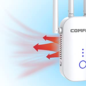 wifi extender with cooling holes are precision-designed for maximum heat dissipation