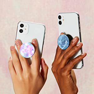 PopSockets PopGrip Basic with hands holding the product