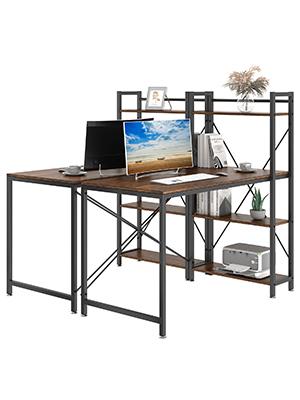 computer desk bookcase desk combination table