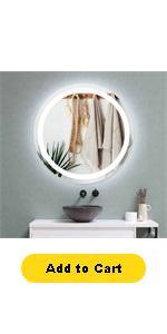circle bathroom mirror with lights