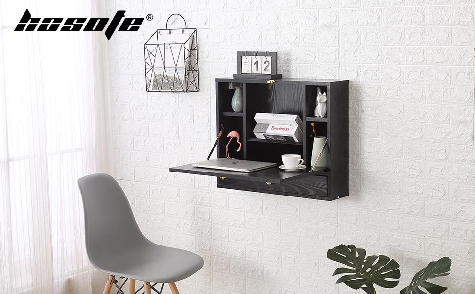 Wall Mounted Table, Folding Laptop Desk