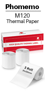 30X50mm 3 roll labels