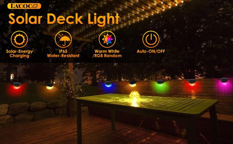 Lacoco Solar Fence Light Outdoor