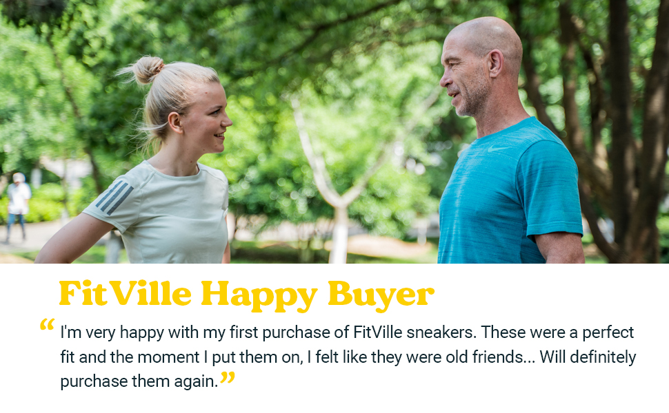 FitVille comfortable running shoes sneakers