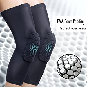 Breathable Basketball Shooting Sport Safety Kneepad Honeycomb Pad Bumper Brace Kneelet Protective Knee pads rodilleras
