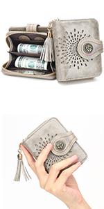 Damen Geldbörse Portemonnaie Kleine